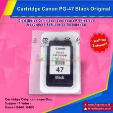 Cartridge Loose Pack Canon Original PG-47 PG47 Black Tanpa Box, Tinta Printer Canon E3170 E400 E460 Loose Pack