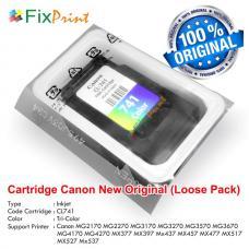 Cartridge Loose Pack Original Canon CL-741 CL741 Color Tanpa Box, Tinta Printer Canon TS5170 MG2170 MG2270 MG3170 MG3270 MG3570 MG3670 MG4170 MG4270 MX377 MX397 MX437 MX457 MX477 MX517 MX527 MX537 Loose Pack