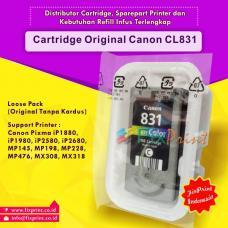 Cartridge Loose Pack Original Canon CL-831 CL831 831 Color Tanpa Box, Tinta Printer Canon IP1180 IP1880 IP1980 2580 2680 MP145 MP198 MP228 MX476 MX308 MX318 Loose Pack