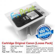 Cartridge Loose Pack Original Canon PG-740 PG740 Black Tanpa Box, Tinta Printer Canon MG2170 MG2270 MG3170 MG3270 MG3570 MG3670 MG4170 MG4270 MX377 MX397 MX437 MX457 MX477 MX517 MX527 MX537 Loose Pack