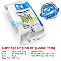 Cartridge Loose Pack Original HP 802 Black CH563ZZ, Tinta Printer HP Deskjet 1000 2000 3000 1050 1510 2050 3050 All-in-One