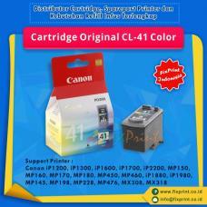 Cartridge Original Canon CL-41 CL41 41 Color, Tinta Printer Canon iP1200 iP1300 iP1600 iP1700 iP2200 MP150 MP160 MP170 MP180 MP450 MP460 iP1880 iP1980 MP145 MP198 MP228 MP476 MX308 MX318
