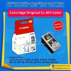 Cartridge Original Canon CL-831 CL831 831 Color, Tinta Printer Canon iP1180 iP1880 iP1980 iP2580 iP2680 MP145 MP198 MP228 MX476 MX30 MX318