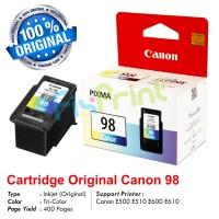Cartridge Original Canon CL-98 CL98 98 Color, Tinta Printer Canon E500 E510 E600 E610