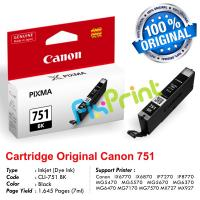 Cartridge Original Canon CLI-751 CLI751 751 751BK CLI-751BK Black, Tinta Printer Canon iX6770 iX6870 MG5470 MG5570 MG5670 MG6370 MG6470 MG7170 MG7570 MX727 MX927 iP7270 iP8770