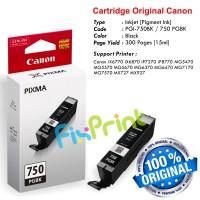 Cartridge Original Canon PGI-750 PGI750 750 PGBK PG-750BK Black, Tinta Printer Canon iX6770 iX6870 MG5470 MG5570 MG5670 MG6370 MG6470 MG7170 MG7570 MX727 MX927 iP7270 iP8770