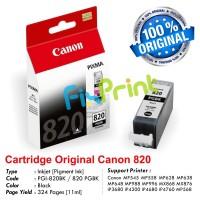 Cartridge Original Canon PGI-820 PGI820 820 PGBK PG-820BK Black, Tinta Printer Canon MP545 MP558 MP628 MP638 MP648 MP988 MP996 MX868 MX876 iP3680 iP4200 iP4680 iP4760 MP568
