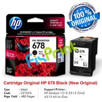 Cartridge Original HP 678 Black CZ107AA, Tinta Printer HP Deskjet 1515 2515 2545 4515 1015 1018 1515 1518 2515 2545 2548 2645  2648 3515 3545 3548 4515 4518 4645 4648 All-in-One