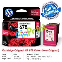 Cartridge Original HP 678 Color CZ108AA, Tinta Printer HP Deskjet 1515 2515 2545 4515 1015 1018 1515 1518 2515 2545 2548 2645  2648 3515 3545 3548 4515 4518 4645 4648 All-in-One