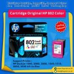 Cartridge Original HP 802 Color CH562ZZ, Tinta Printer HP Deskjet 1000 1010 1011 1050 1510 1511 2000 2050 3000 3050 All-in-One