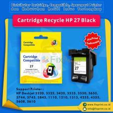 Cartridge Recycle HP 27 Black C8727AA, Tinta Printer HP Deskjet 3320 3325 3420 3535 3550 3650 3744 3745 3845 1110 1210 1315 4255 4355 5608 5610