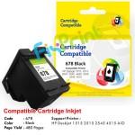 Cartridge Recycle HP 678 Black CZ107AA, Tinta Printer HP 1515 2515 2545 4515 1015 1018 1515 1518 2515 2545 2548 2645  2648 3515 3545 3548 4515 4518 4645 4648 e-All-in-One