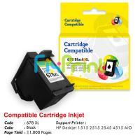 Cartridge Recycle HP 678 Black XL CZ107AA, Tinta Printer HP 1515 2515 2545 4515 e-All-in-One