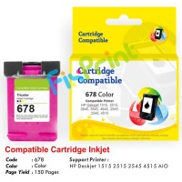 Cartridge Recycle HP 678 Color CZ108AA, Tinta Printer HP 1515 2515 2545 4515 e-All-in-One