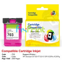 Cartridge Recycle HP 703 Color CD888AA, Tinta Printer HP Deskjet D730 F735 K109 K209a K209g AiO - HP Photosmart K510a