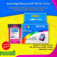 Cartridge Recycle HP 901 XL Color CC656AA, Tinta Printer HP OfficeJet 4500 4500n 4600 All-in-One