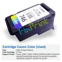Cartridge Tinta Bekas Canon CL746 CL-746 CL 746 Color, Cartridge Printer Canon TR4570S TS207 TS307 iP2870 iP2870S iP2872 MG2470 MG2570 MG2570S MG2577S MG2970 MG3070 MG3070S MG3077 MG3077S MX497 Bekas
