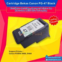 Cartridge Tinta Bekas Canon PG47 PG-47 PG 47 Black, Cartridge Printer Canon E3170 E400 E410 E417 E460 E470 E477 E480 Bekas