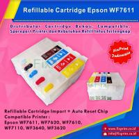 Cartridge Tinta Epson T188 188 Refillable MCISS Isi Ulang Printer WF-7711 WF-7611 WF-7211 WF-7111 WF7611 WF7620 WF7610 WF7110 WF3640 WF3620