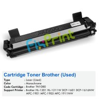 Cartridge Toner Bekas Brother TN-1080 tn1080, Printer Brother HL-1201 1211W DCP-1601 1616NW MFC-1901 1905 1911NW