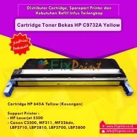 Cartridge Toner Bekas HP 645A C9732A Yellow, Printer HP Laserjet 5500 Canon C3500 MF211 MF226dn LBP-2710 LBP-2810 LBP5700 LBP5800