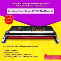 Cartridge Toner Bekas HP 645A C9733A Magenta, Printer HP Laserjet 5500 Canon C3500 MF211 MF226dn LBP-2710 LBP-2810 LBP5700 LBP5800