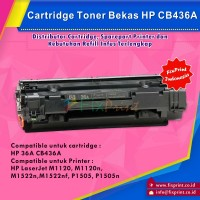 Cartridge Toner Bekas HP CB436A 36A, Printer HP Laserjet M1120 M1120n M1522n M1522nf P1505 P1505N