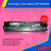 Cartridge Toner Bekas HP CB540A 125A Black, Printer HP Laserjet CP1215 CP1515n CP1518ni CM1312 CM1512 MFP