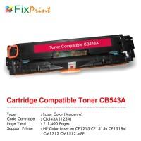 Cartridge Toner Compatible HP CB543A 125A Magenta, Printer HP Color LaserJet CP1215 CP1515n CP1518ni CM1312 CM1512 MFP series