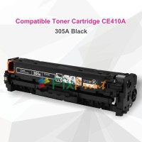 Cartridge Toner Compatible HP CE410A 305A Black, Printer HP LaserJet Pro 300 Color M351a MFP M375nw M451dn 400 Color M451dw M451nw MFP M475 M475dn M475dw