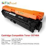 Cartridge Toner Compatible HP CE740A 307A Black, Printer HP Colour LaserJet CP5225 CP5225dn CP5225n