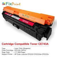 Cartridge Toner Compatible HP CE743A 307A Magenta, Printer HP Colour LaserJet CP5225 CP5225dn CP5225n