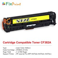 Cartridge Toner Compatible HP CF382A 312A Yellow, Printer HP Color LaserJet Pro MFP M476dn M476dw M476nw