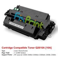 Cartridge Toner Compatible HP Q2610A 10A, Printer HP LaserJet 2300 2300d 2300dn 2300dtn 2300L 2300n