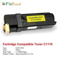 Cartridge Toner Compatible Printer Fuji Xerox Docuprint C1110 Yellow