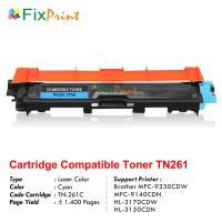 Cartridge Toner Compatible TN-261 TN261 Cyan, Printer Brother MFC-9330CDW MFC-9140CDN HL-3170CDW HL-3150CDN