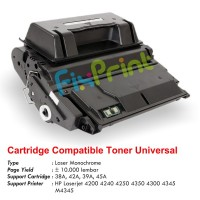 Cartridge Toner Compatible Universal Q1338A 38A Q5942A 42A Q1339A 39A Q5945A 45A, Printer HP Laserjet 4200 4240 4250 4350 4300 4345 M4345
