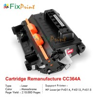 Cartridge Toner Remanufacture CC364A 64A, Compatible HP Laserjet P4014 P4014d P4014n P4015dn P4015n P4015tn P4015x P4515n P4515x P4515tn P4515xm