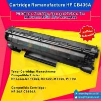 Cartridge Toner Remanufactured HP CB436A 36A, Printer HP LaserJet M1120 M1120n M1522n M1522nf P1505 P1505n