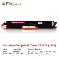 Compatible Cartridge HP CF353A 130A Magenta, HP Color LaserJet Pro 100 MFP M176n M177fw Magenta