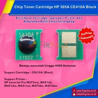 Chip Toner Cartidge HP 305A Black, Chip CE410
