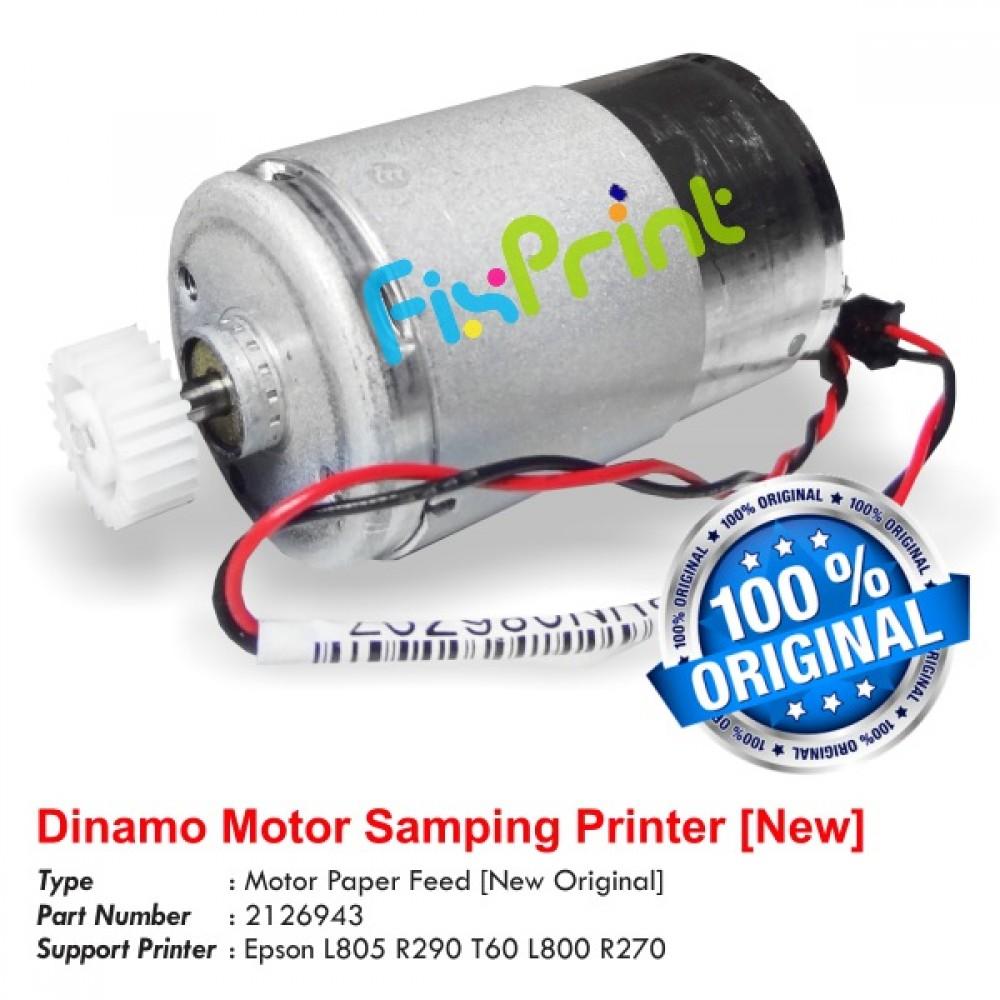 Dinamo Motor Samping Epson L805  L810 L850 R290 T60 L800 R270 New Original, Motor Paper Feed Part Number 212694300