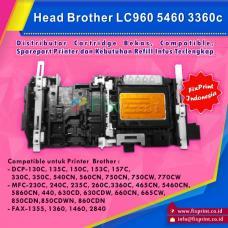 Head Printer Brother LC960 DCP-130C 135c 150c 153C 157c 330C 350C 540CN 560CN 750CN 750CW 770CW MFC-230C 240C 235C 260C 3360C 465CN 5460cn 5860CN 440 630CD 630CDW 660CN 665CW 850CDN 860CDN 5460 3360c FAX1355 1360 1460 2840, Printhead Brother LC-960