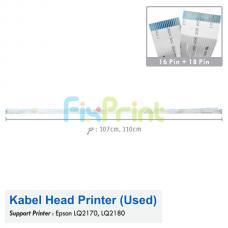 Kabel Head Epson LQ2180 LQ2170 Bekas Like New, Cable Flexible LQ-2180 LQ-2170 (2 Pair)