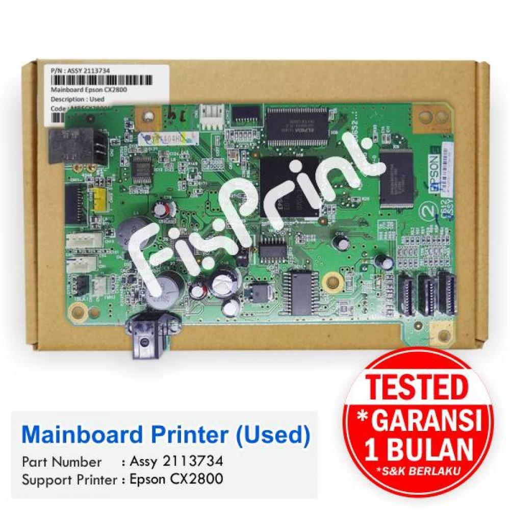 Board Printer Epson CX2800, Mainboard Epson CX2800, Motherboard Epson CX-2800 Bekas Like New