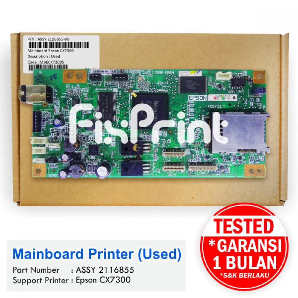 Board Printer Epson CX7300, Mainboard Epson CX7300, Motherboard CX-7300 Bekas Like New
