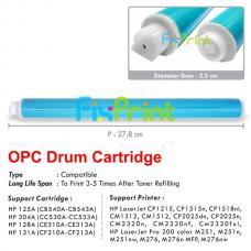 OPC Drum Toner Cartridge HP CB540A CB541A CB542A CB543A CC530A CC531A CC532A CC533A CE320A CE321A CE322A CE323A CF210A CF211A CF212A CF213A HP 125A 304A 128A 131A, Printer HP Laserjet CP1215 CP1515 CP1518 CM1312 CM1512 MFP CP2025 CM2320 M251nw M276nw