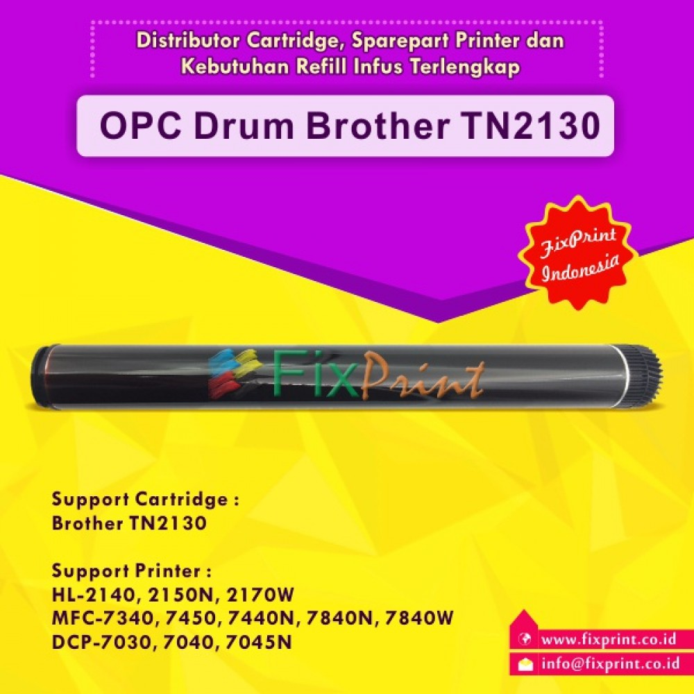 OPC Drum Toner Cartridge Brother TN2130, Brother HL-2140 HL-2150N HL-2170W MFC-7320 MFC-7340 MFC-7450 MFC-7440N MFC-7840N MFC-7840W DCP-7030 DCP-7040 DCP-7045N