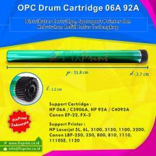 OPC Drum Toner Cartridge HP 06A C3906A 92A C4092A Canon EP-22 FX-3, HP Laserjet 5L 6L 3100 3150 1100 3200 Canon LBP-250 350 800 810 1110 1110SE 1120