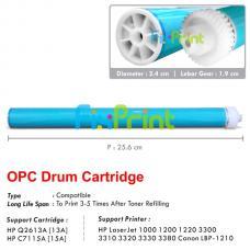 OPC Drum Toner Cartridge HP 13A Q2613A 15A C7115A, HP LaserJet 1000 1200 1220 3300 3310 3320 3330 3380 Series Canon LBP-1210